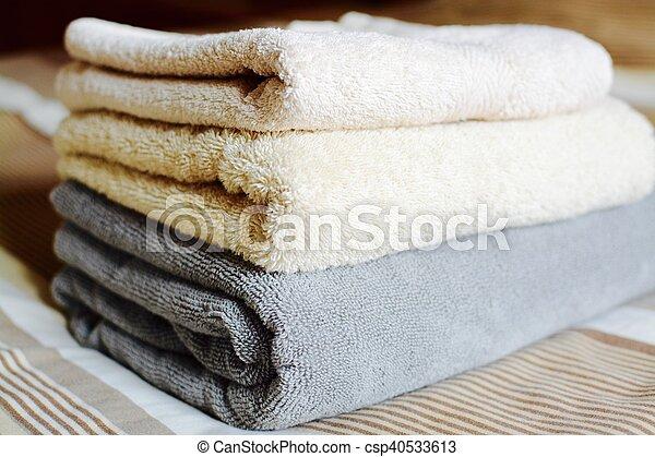 Folded towels - csp40533613