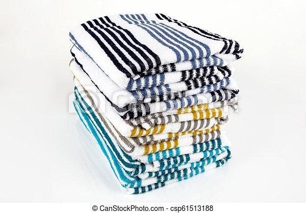 Folded Towels - csp61513188