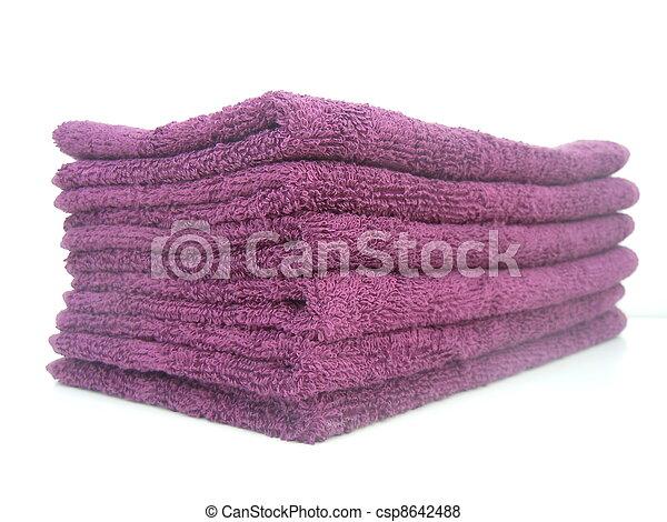 folded towels - csp8642488