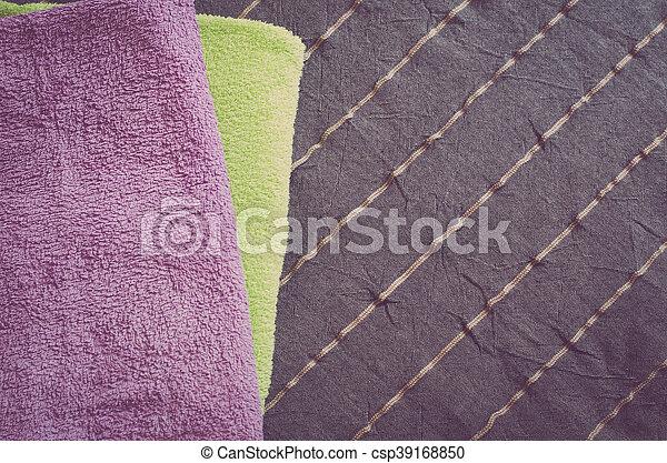 Folded towels - csp39168850