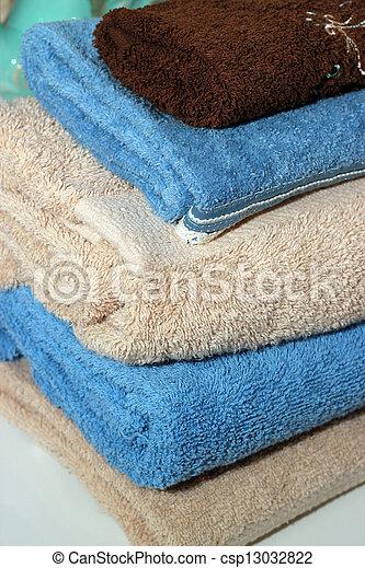 Folded towels - csp13032822