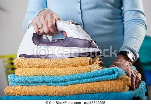 Folded towels - csp18542295
