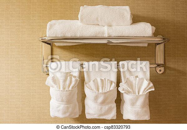 Folded towels - csp83320793