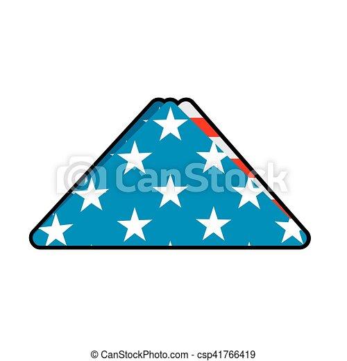 Folded Us Flag Symbol Of Mourning National Symbol Of United States