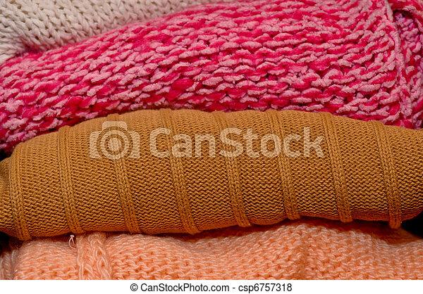 Folded woolen sweaters - csp6757318