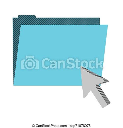 folder file with arrow cursor mouse - csp71076075