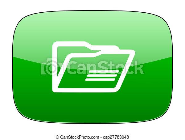 folder green icon - csp27783048