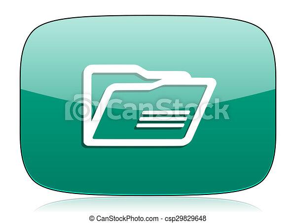folder green icon - csp29829648