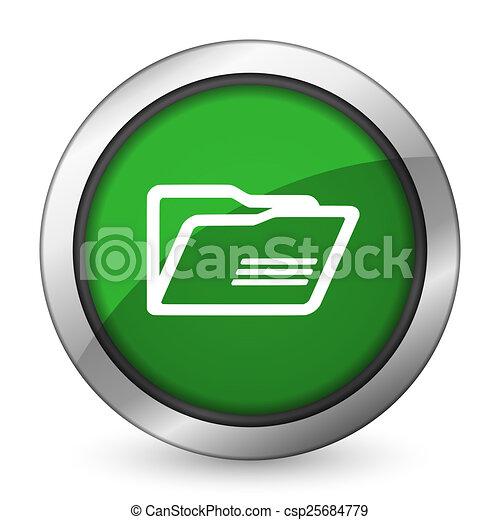 folder green icon - csp25684779