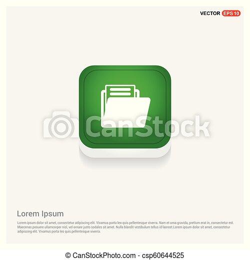 Folder icon Green Web Button - csp60644525
