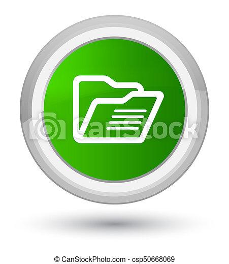 Folder icon prime green round button - csp50668069