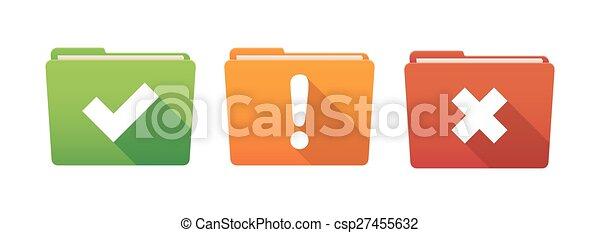 Folder icon set with survey icons - csp27455632