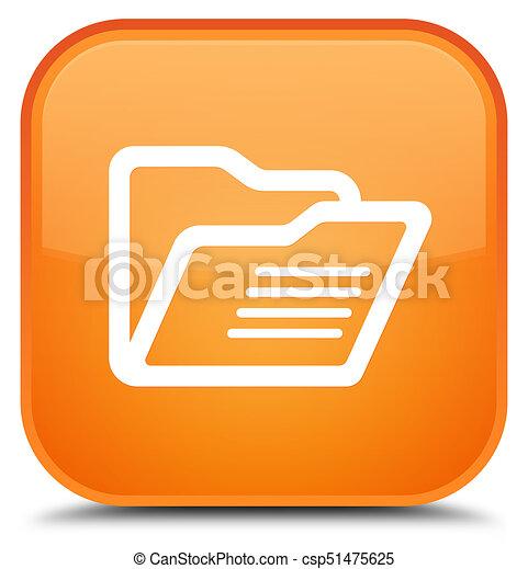Folder icon special orange square button - csp51475625