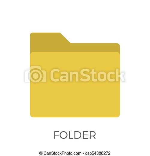 Folder Icon Vector - csp54388272