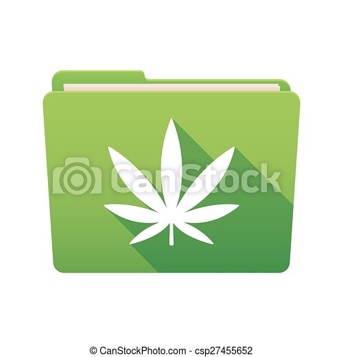 folder icon with a marijuana leaf isolated file folder icon with a rh canstockphoto com pot leaf polo shirt pot leaf golf headcovers