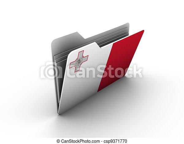 folder icon with flag of malta - csp9371770