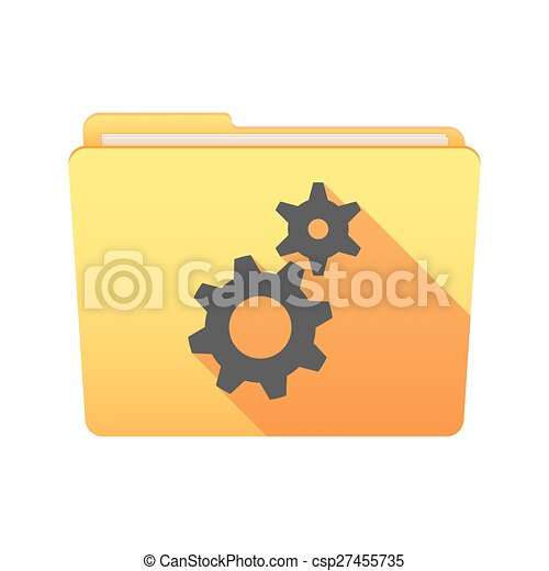 Folder icon with gears - csp27455735