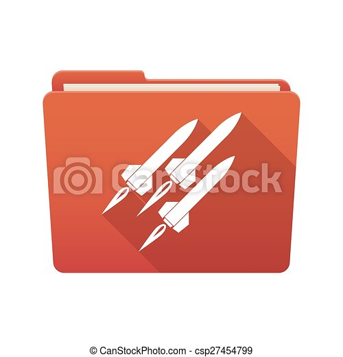 Folder icon with missiles - csp27454799