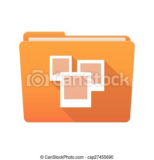 Folder icon with photos - csp27455690
