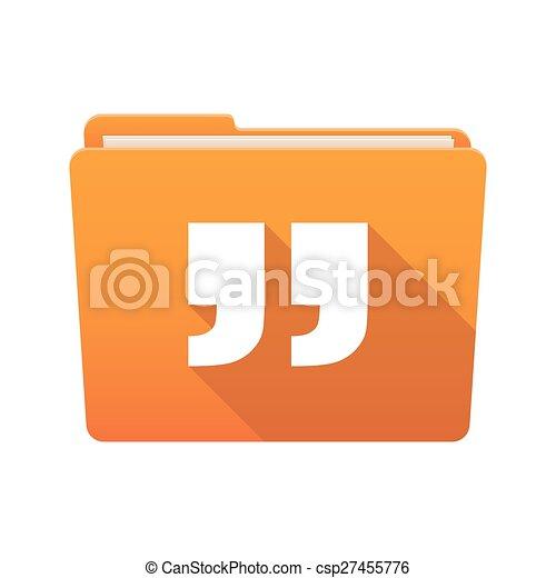 Folder icon with quotes - csp27455776