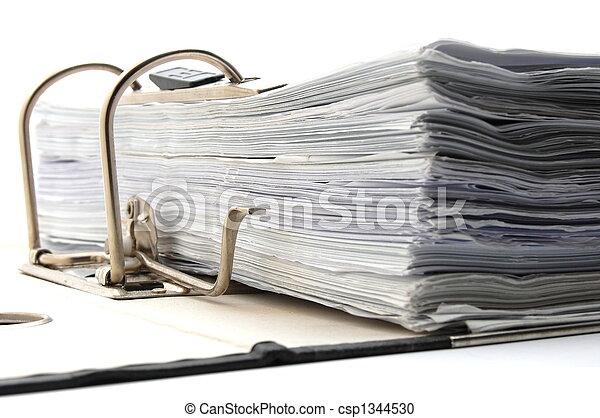 folder in an office - csp1344530