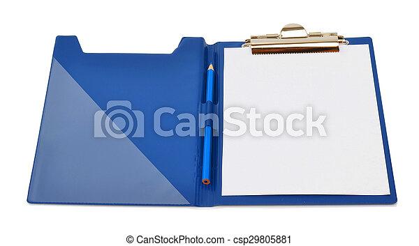 folder isolated on white - csp29805881