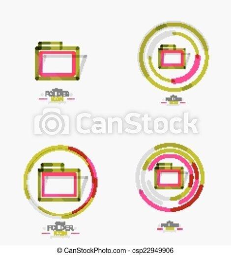Folder Logo Stamp Accounting Binder