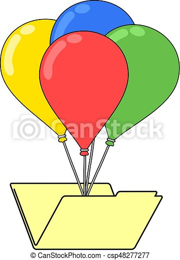 folder with color balloons - csp48277277