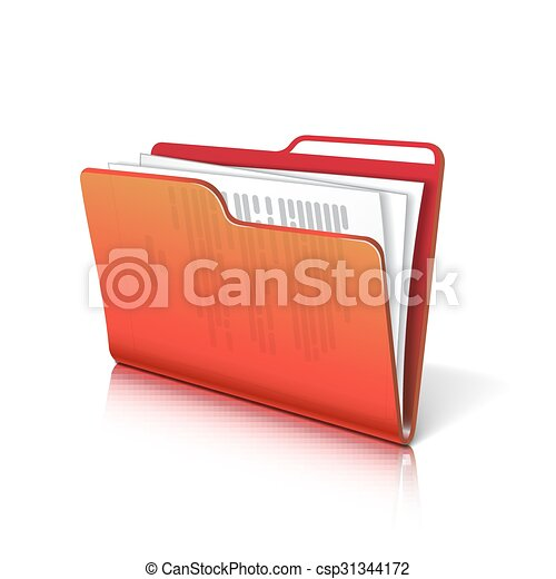 Folder with papers. - csp31344172