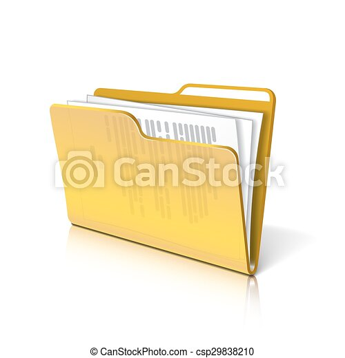 Folder with papers. - csp29838210