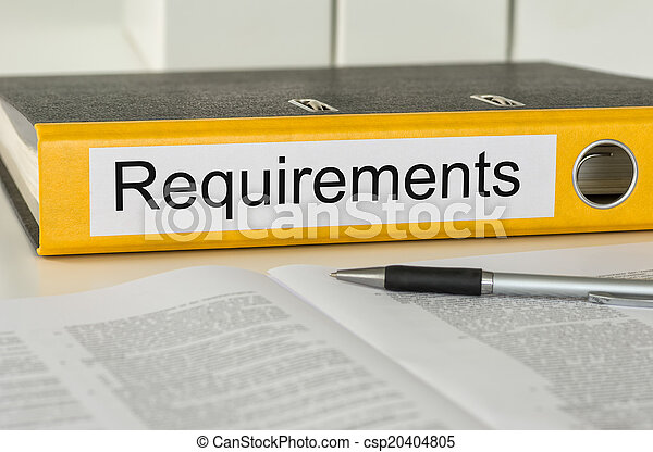 Folder with the label Requirements - csp20404805