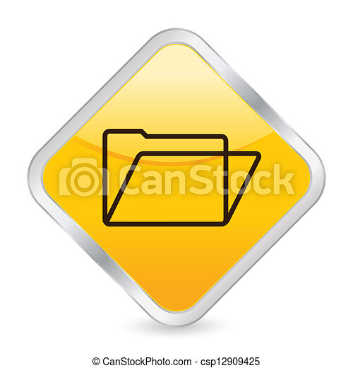 folder yellow square icon - csp12909425