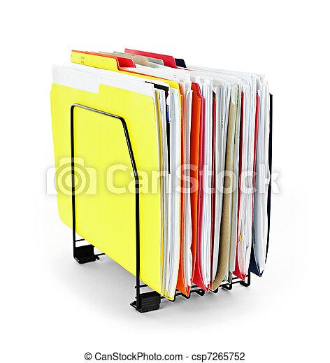 folders, bestand, papieren - csp7265752