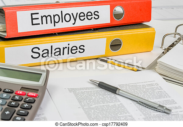Folders with the label Employees and Salaries - csp17792409