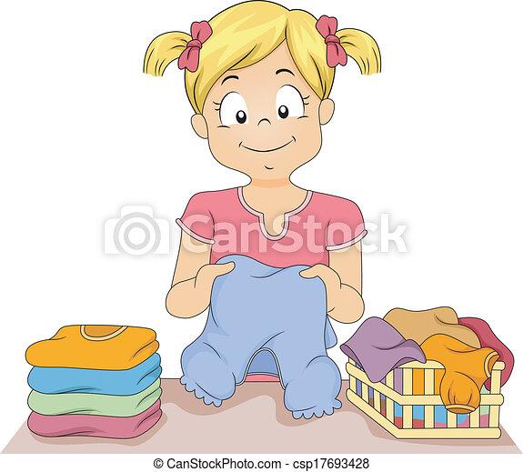 Folding Clothes - csp17693428
