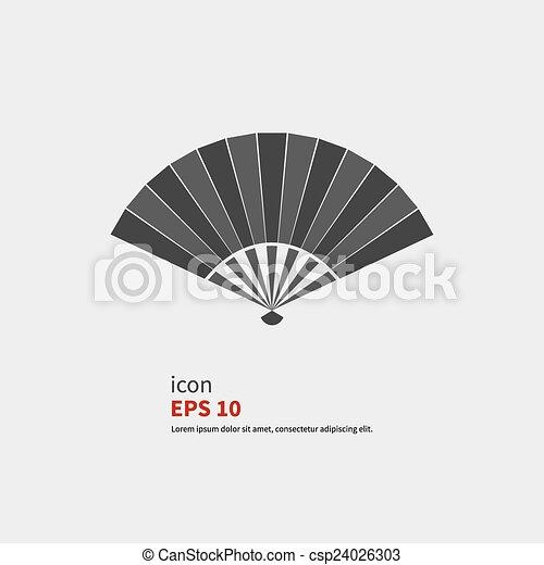 Folding fan icon - csp24026303