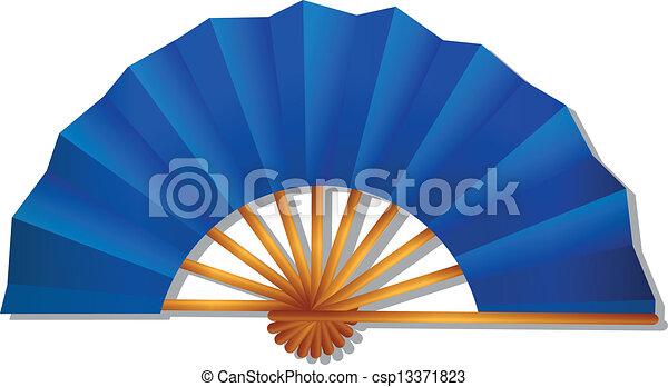 folding fan - csp13371823