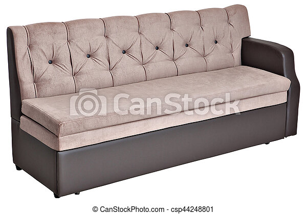 Folding Sofa Bed Couch With Storage Space, Isolated On White.   Csp44248801