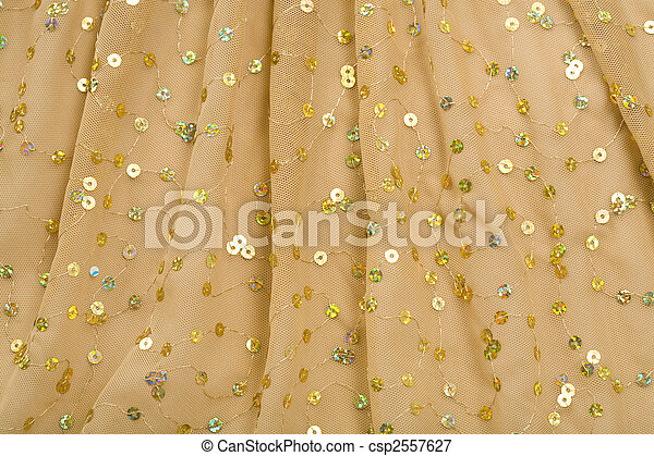 Folds of Brown Fabric with Spangles - csp2557627