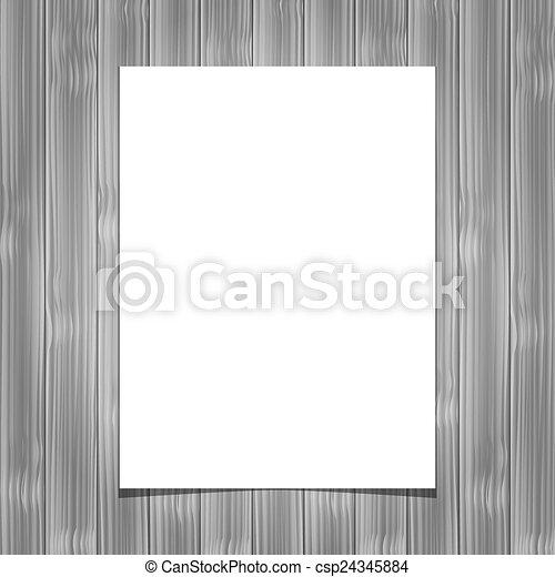 folha, madeira, papel, fundo, em branco, branca - csp24345884