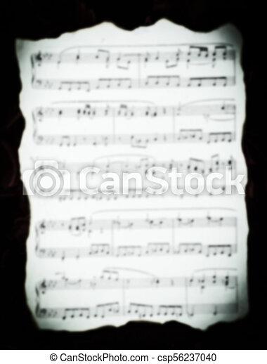 folha, vindima, blur., bordas, música, queimado - csp56237040