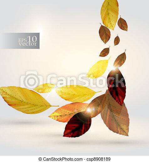 folhas, desenho - csp8908189