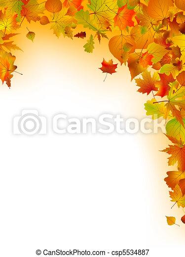 folhas, eps, experiência., multi-colorido, 8, branca - csp5534887