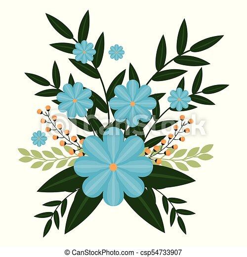 Folhas Flores Coloridos Grafico Coloridos Primavera Folhas