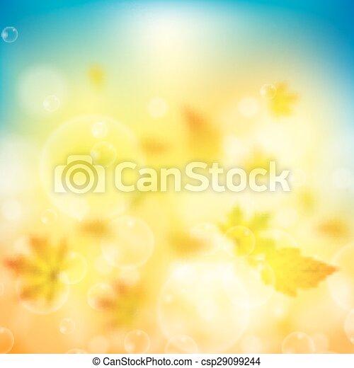 folhas, fundo, outono - csp29099244