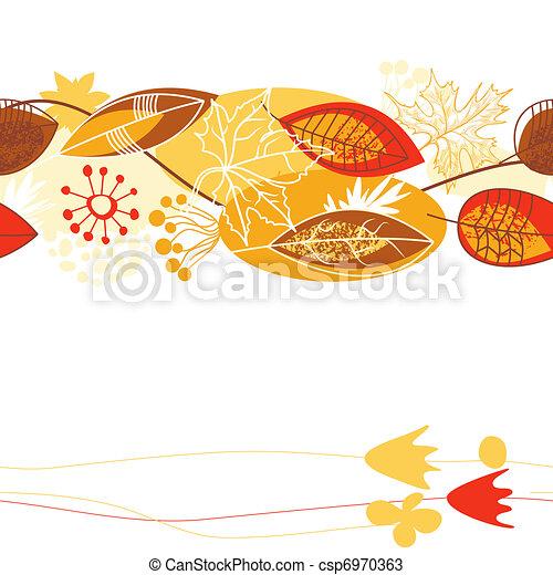 folhas, fundo, outono - csp6970363