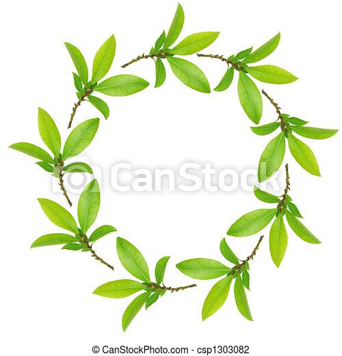 folhas, guirlanda, baía - csp1303082