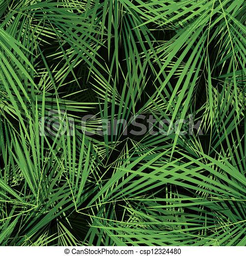 folhas, papel parede, palma, seamless, árvores - csp12324480