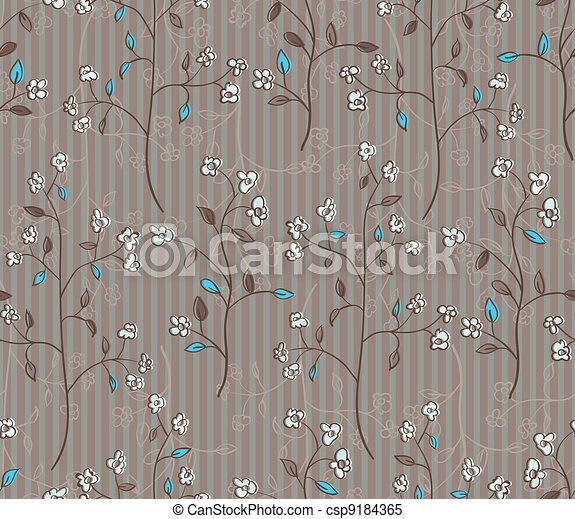 folhas, papel parede, seamless - csp9184365