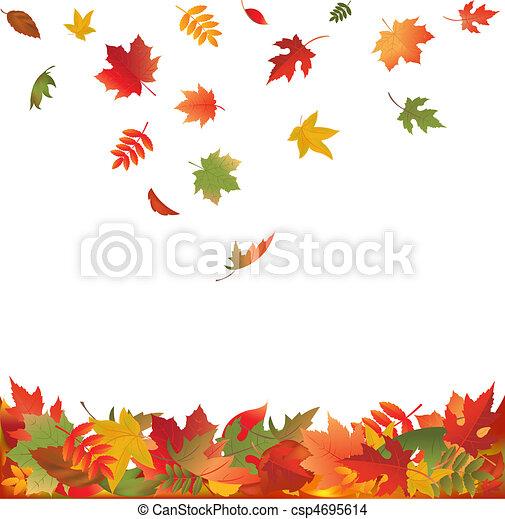 folhas, queda, outono - csp4695614